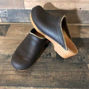 Women's Dansko Sanita Leather Mule Shoes 38 7.5/8